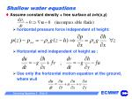 shallow water equations31