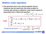 shallow water equations35