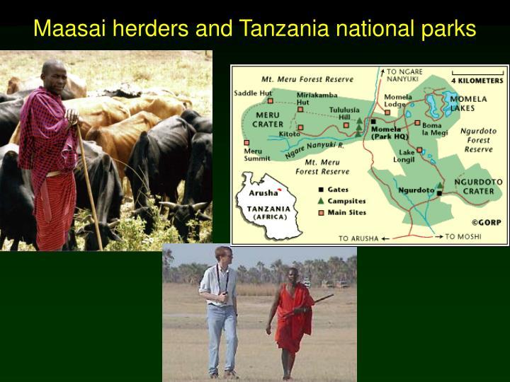 Maasai herders and Tanzania national parks