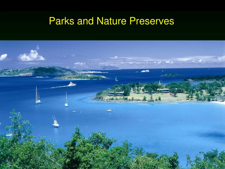 parks and nature preserves n.
