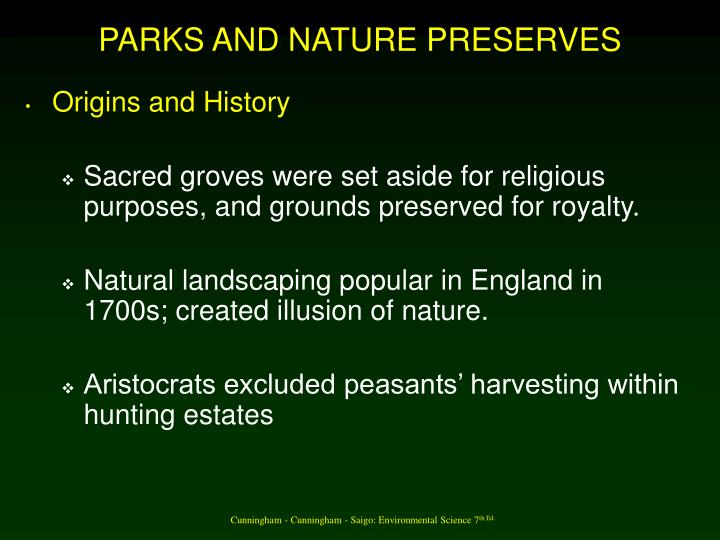 Parks and nature preserves1