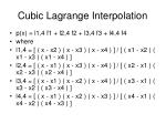 cubic lagrange interpolation