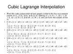 cubic lagrange interpolation24