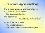 quadratic approximations