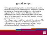 grcodi script