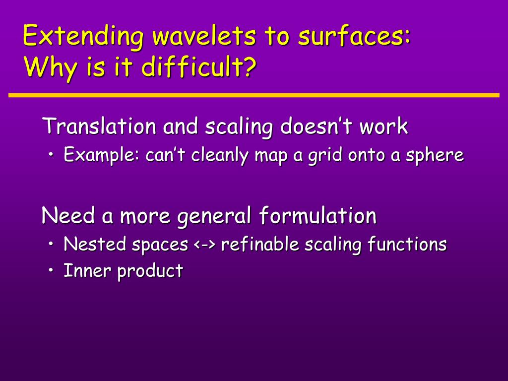 Extending wavelets to surfaces: