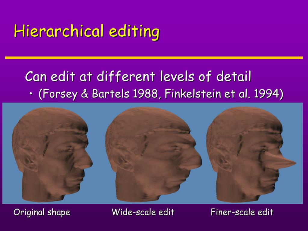 Hierarchical editing