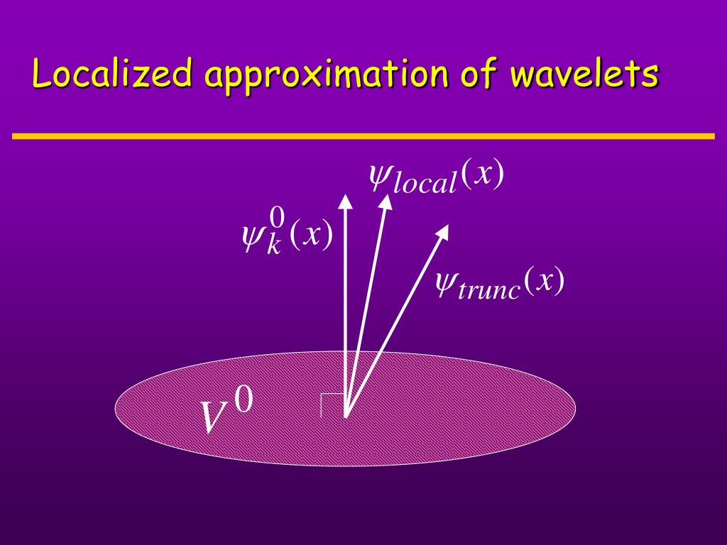 Localized approximation of wavelets