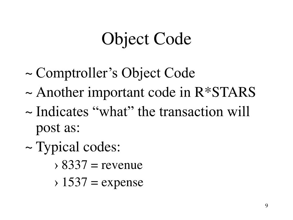 Object Code