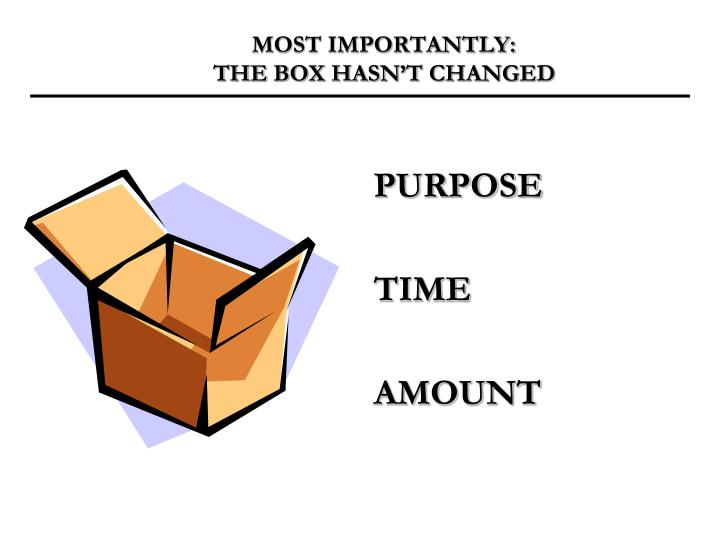 Most importantly the box hasn t changed
