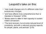 leopold s take on this