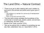 the land ethic natural contract