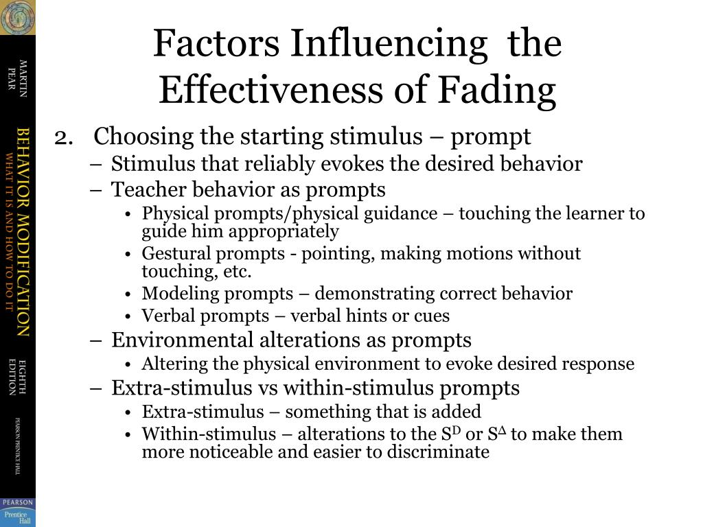 Factors Influencing  the Effectiveness of Fading