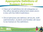 appropriate definitions of problem behaviors4