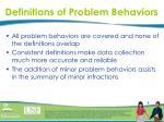 definitions of problem behaviors