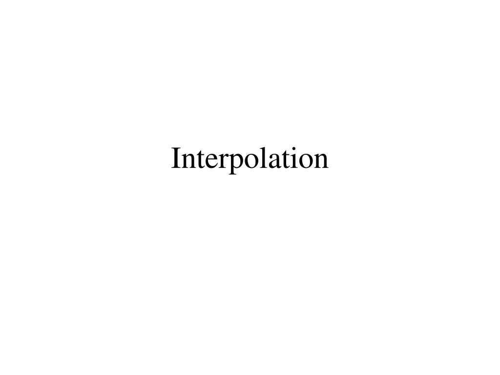 interpolation l.
