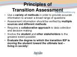 principles of transition assessment