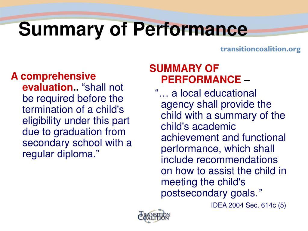 A comprehensive evaluation