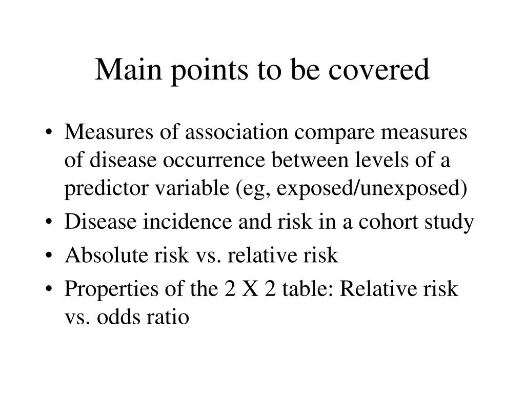 main points to be covered l.