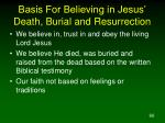 basis for believing in jesus death burial and resurrection
