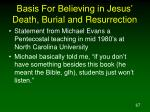 basis for believing in jesus death burial and resurrection1