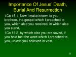 importance of jesus death burial and resurrection