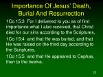 importance of jesus death burial and resurrection1
