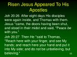 risen jesus appeared to his apostles1
