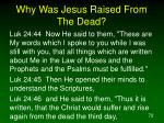 why was jesus raised from the dead3