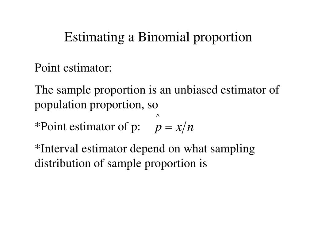 Estimating a Binomial proportion