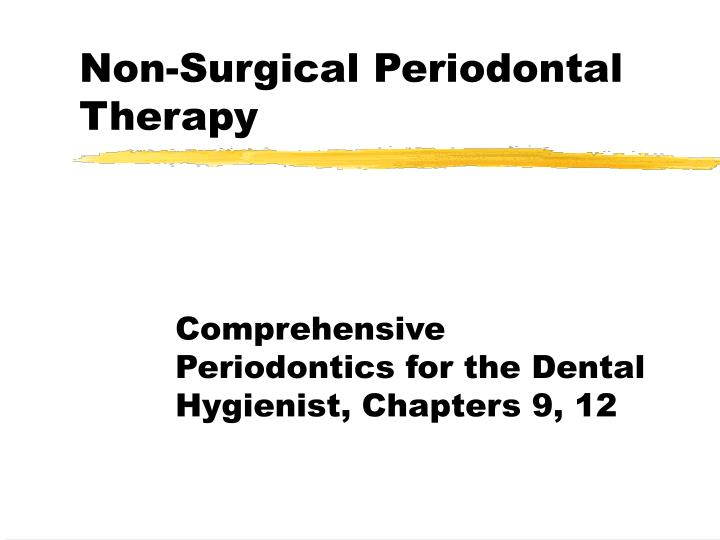 non surgical periodontal therapy n.