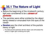 35 1 the nature of light