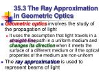 35 3 the ray approximation in geometric optics