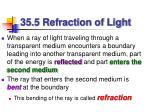 35 5 refraction of light