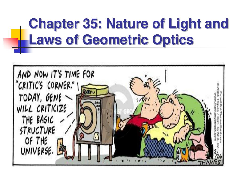 chapter 35 nature of light and laws of geometric optics l.