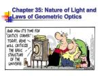 chapter 35 nature of light and laws of geometric optics