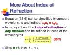 more about index of refraction