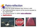 retro reflection