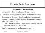 hermite basis functions
