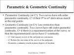 parametric geometric continuity