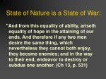 state of nature is a state of war