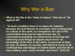 why war is bad
