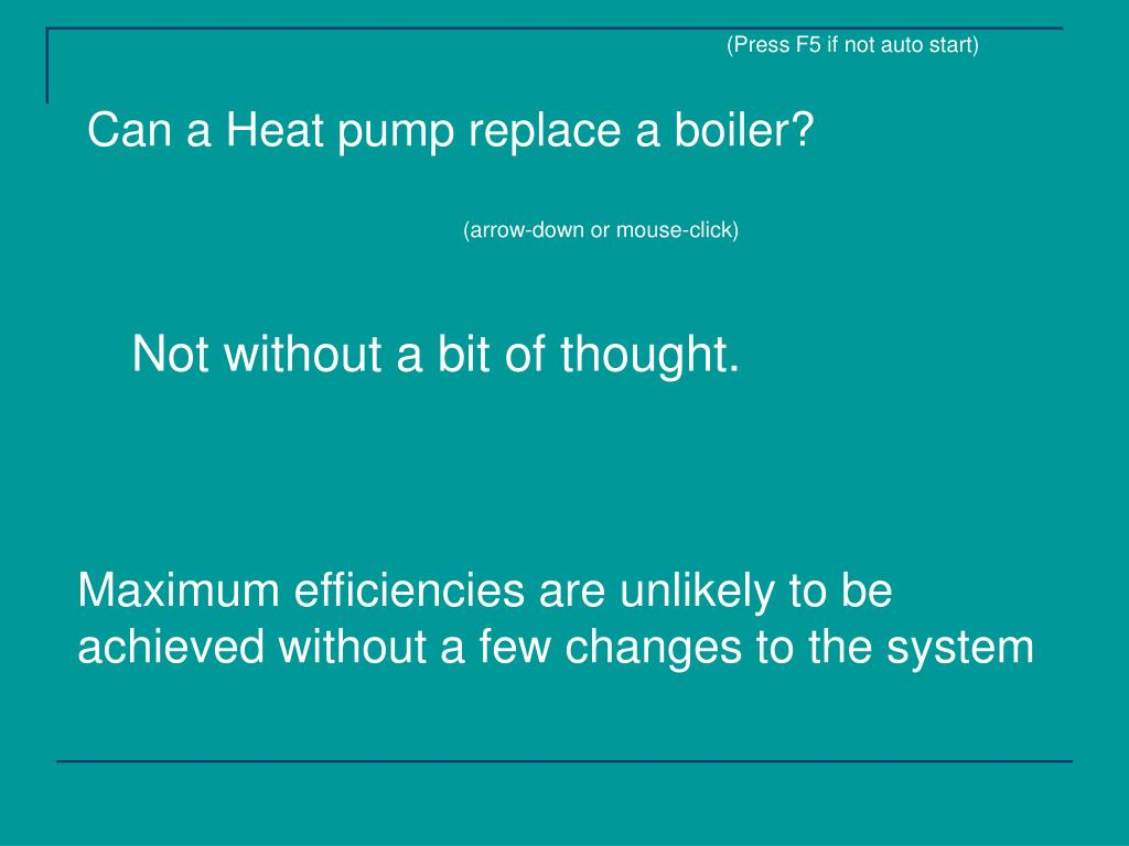 can a heat pump replace a boiler l.