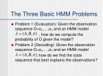 the three basic hmm problems