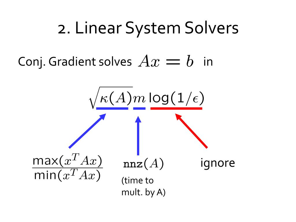 2. Linear System Solvers