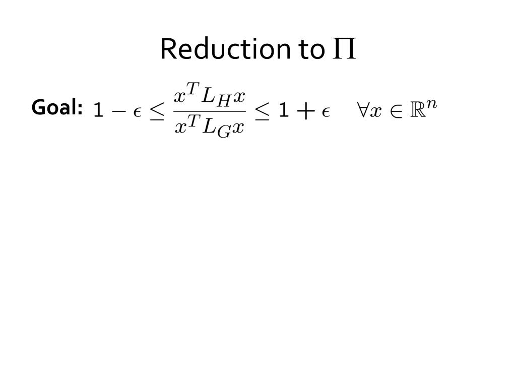 Reduction to
