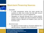 short term financing sources