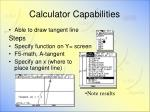 calculator capabilities