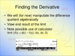 finding the derivative