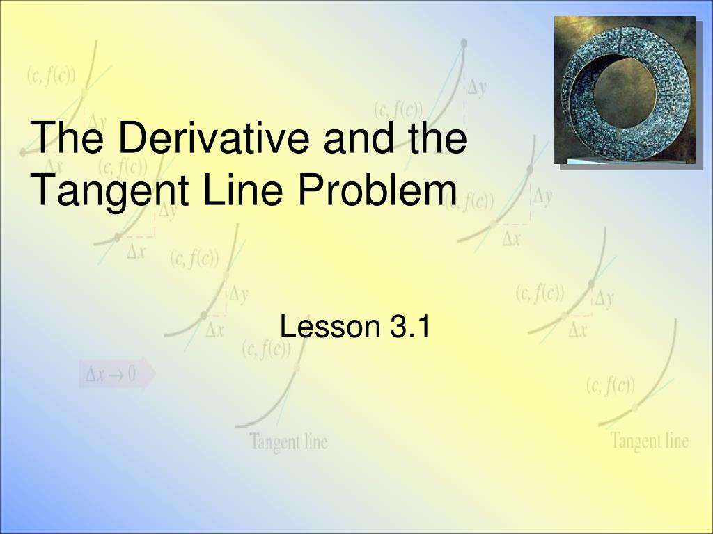 the derivative and the tangent line problem l.